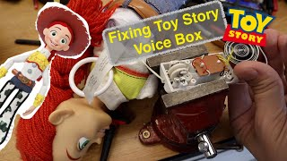 Fixing Toy Story Jessie or Woody Pull String Voice Box...