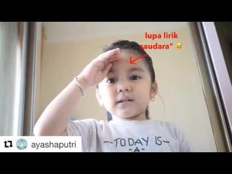 Video lucu anak kecil lagu Indonesia Raya