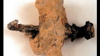 The only evidence in the world of a crucifixion nail from Jesus time is in the Israel Museum