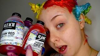 Dying my hair multi coloured!! Using Bleach London hair dye~ thumbnail