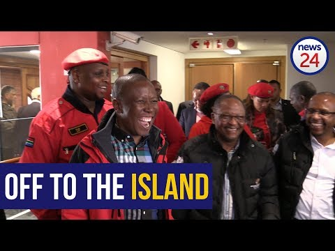 Julius Malema just before his departure to Robben Island