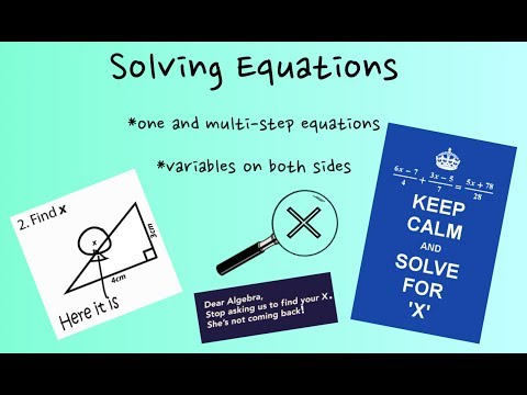 How To Solve Equations and Find X (or any variable)!
