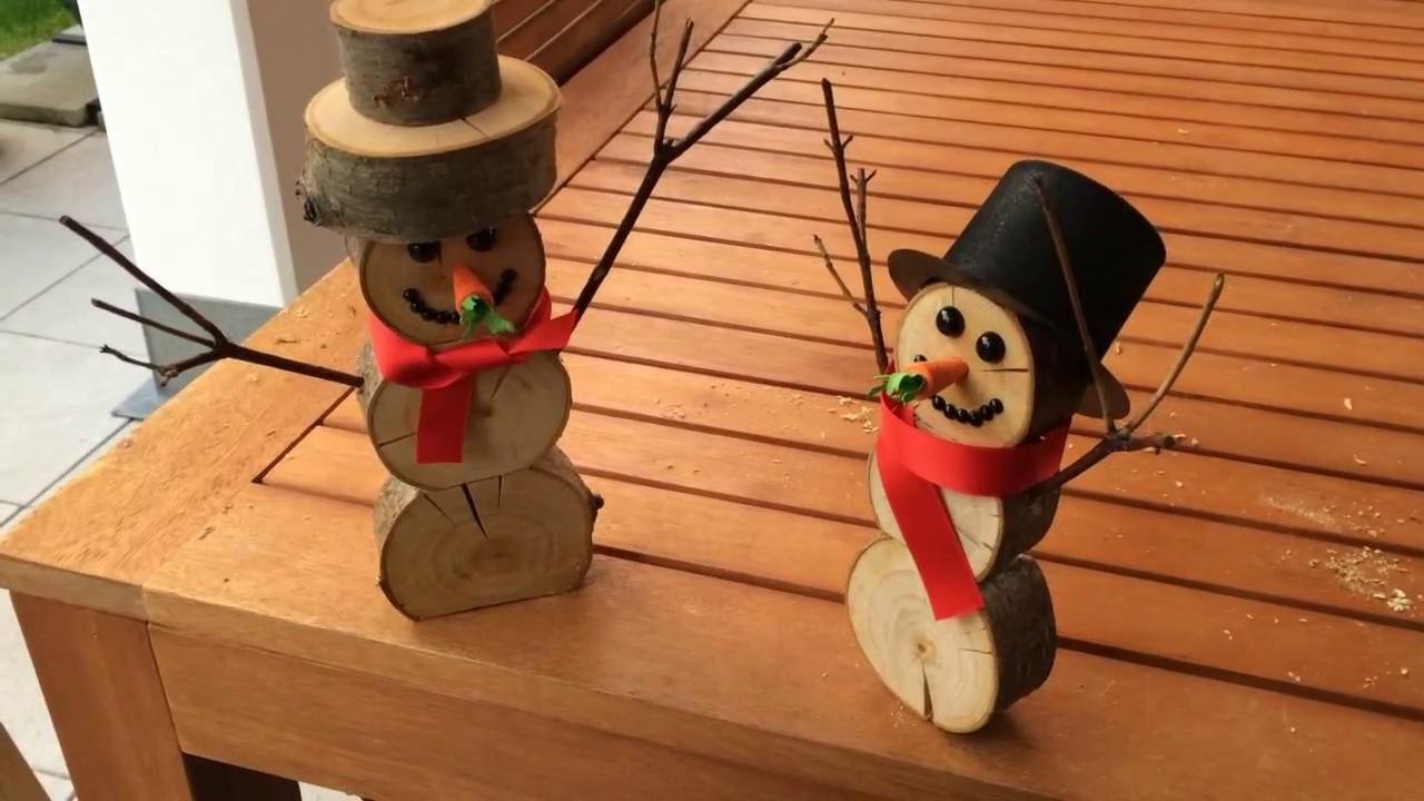 Holz Schneemänner DIY   YouTube