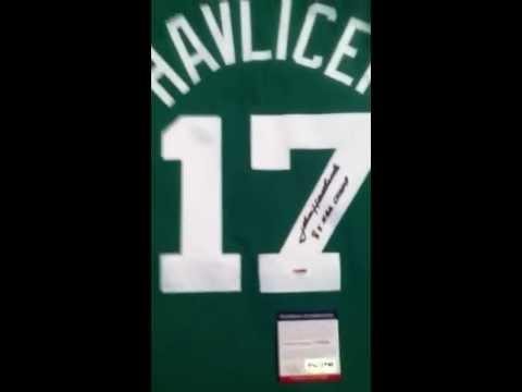 John Havlicek Signed Boston Celtics Mitchell Ness Basketball Jersey PSA DNA COA Steal