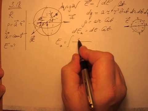 Как найти объемную плотность заряда