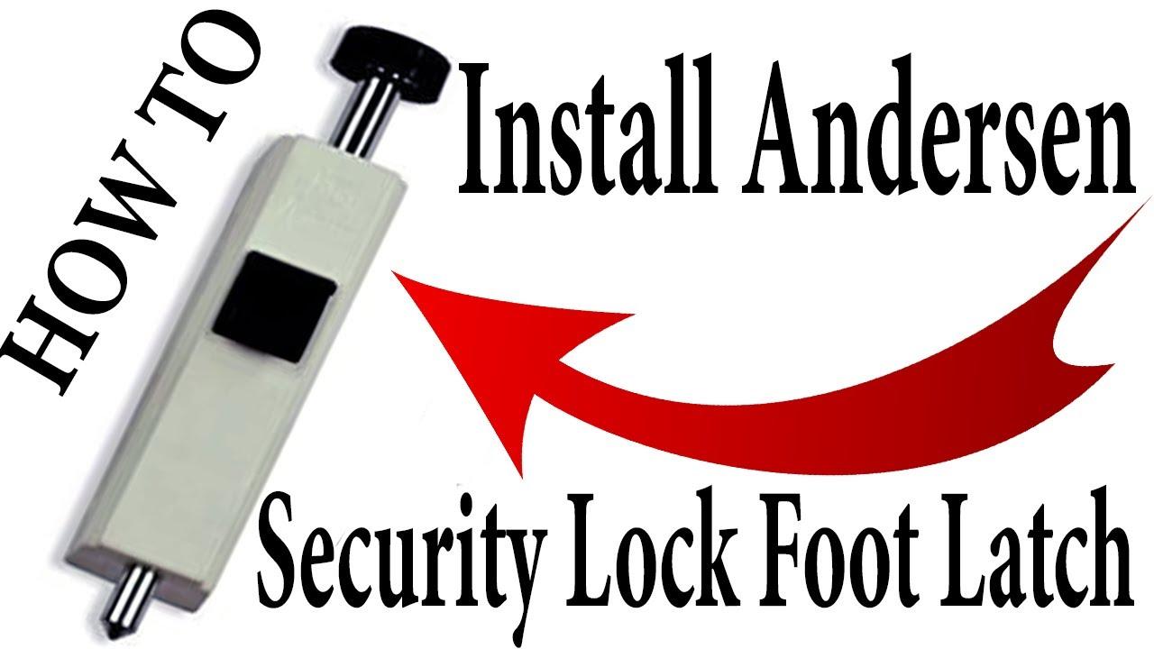 how to install a sliding patio door foot lock