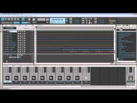 Curso Completo Sonar X3   Modulo 2 - Abrindo Projeto\ Panning