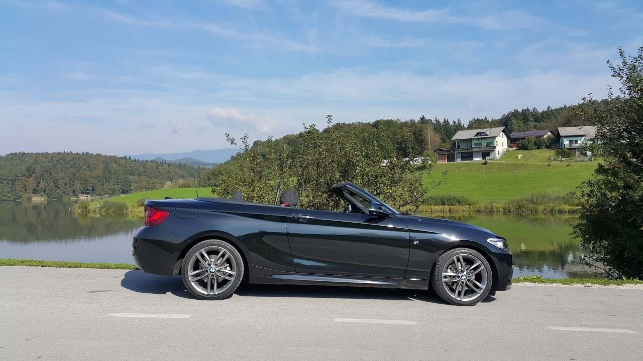 bmw 220i convertible car review youtube. Black Bedroom Furniture Sets. Home Design Ideas