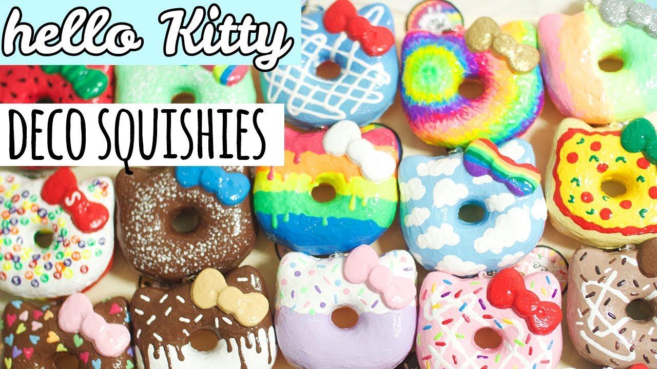 Diy Squishy Hello Kitty : Deco Hello Kitty Donuts (Homemade Squishy Update #7) - YouTube