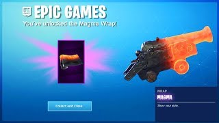 NEW MAGMA WRAP UNLOCKED in Fortnite..