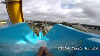 Deep Water Dive - Blue Slide - POV water park Kentucky Kingdom 1080P HD