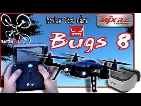MJX BUGS 8 DRONE RACER ? Review Test Démo /  Pack FPV complet !!!