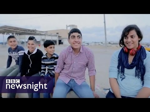 Gaza kids in Arabs Got Talent - BBC Newsnight