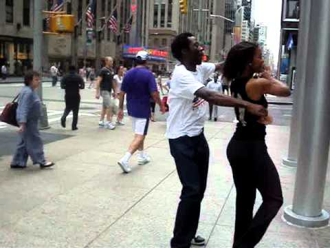 Salsa Dancing in the streets of New York City