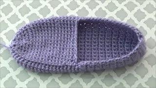 How To Crochet Slippers, Lilu's Handmade Corner Video # 206