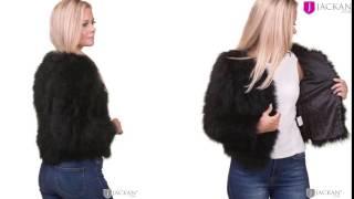 Happy Jacket Ostrich Feather Svart
