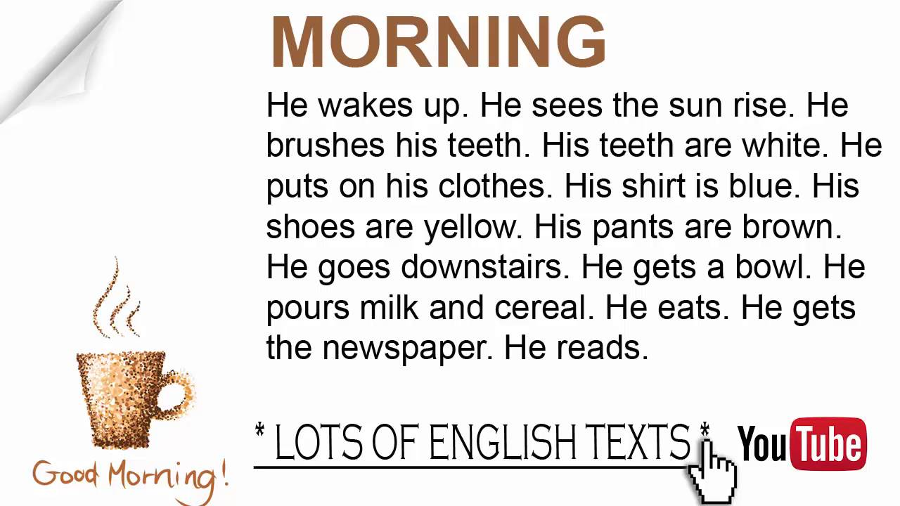 morning lots of english texts youtube