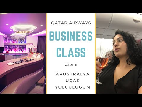 Qatar Airways QSuite | Business Class  | Avustralya Uçak Yolculuğum