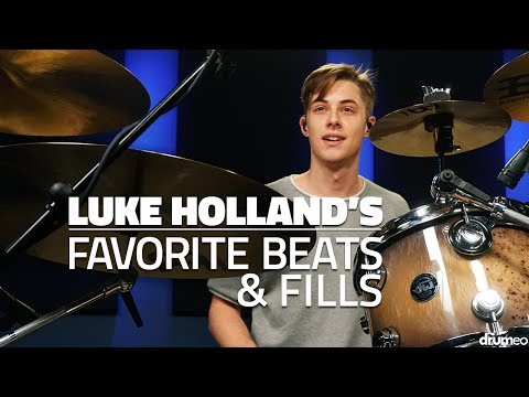 Luke Holland's Favorite Drum Beats & Fills - FULL DRUM LESSON (Drumeo)