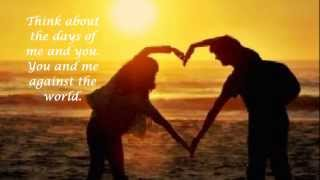 Helen Reddy ♥You And Me Against The World Lyrics♥