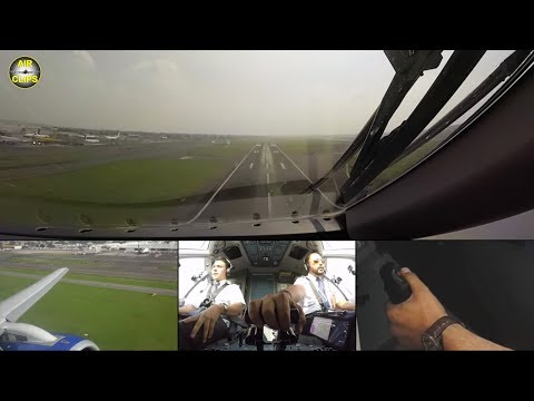 Interjet Sukhoi Superjet LOUD Takeoff from Mexico City with EXTRA side-stick cam! [AirClips]
