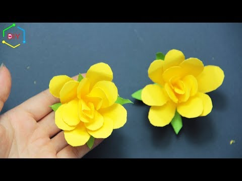 How to make paper rose flowers/ How to make paper rosettes step by step