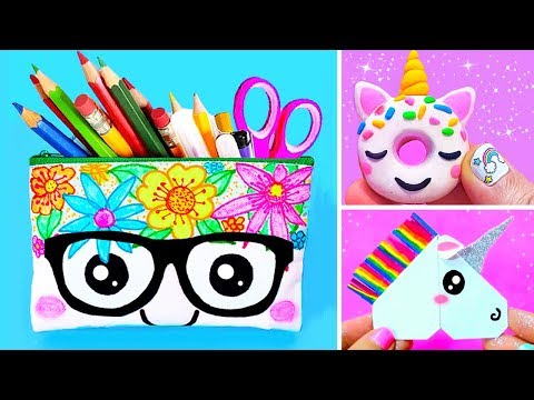 15 DIY UNICORN SCHOOL SUPPLIES for Back To School | Easy & Cute Crafts
