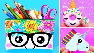 15 DIY UNICORN SCHOOL SUPPLIES for Back To School | Easy & Cute Crafts