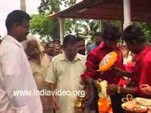Welcoming the groom in Hindu marriage