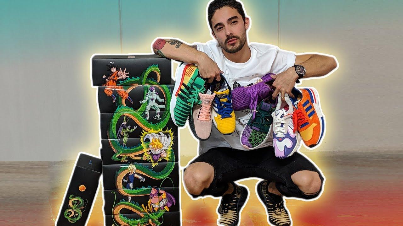 cuatro veces Imaginación Sandalias  Conoce la COLECCIÓN COMPLETA Dragón Ball Z by Adidas Sneakers - YouTube