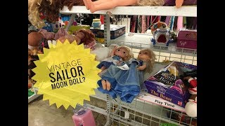 Thrift store doll toy hunt - Vintage Sailor Moon Doll found Disney Monster High