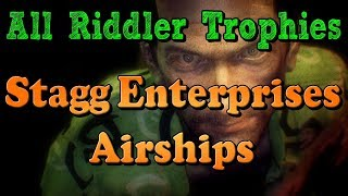 """Batman: Arkham Knight"" All Riddler Trophies and Challenges in Stagg Enterprises Airships"