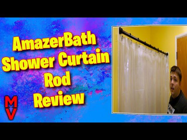 AmazerBath Shower Curtain Rod Review || MumblesVideos