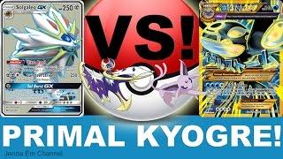 Pokemon Primal Kyogre EX VS Solgaleo GX! Jenna Em PTCGO