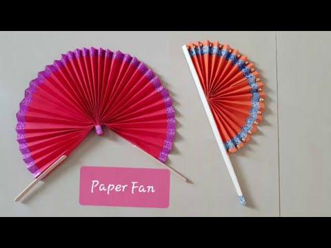How to make a Chinese Fan DIY Tutorial | DIY Paper Fan Handmade | Paper Fan