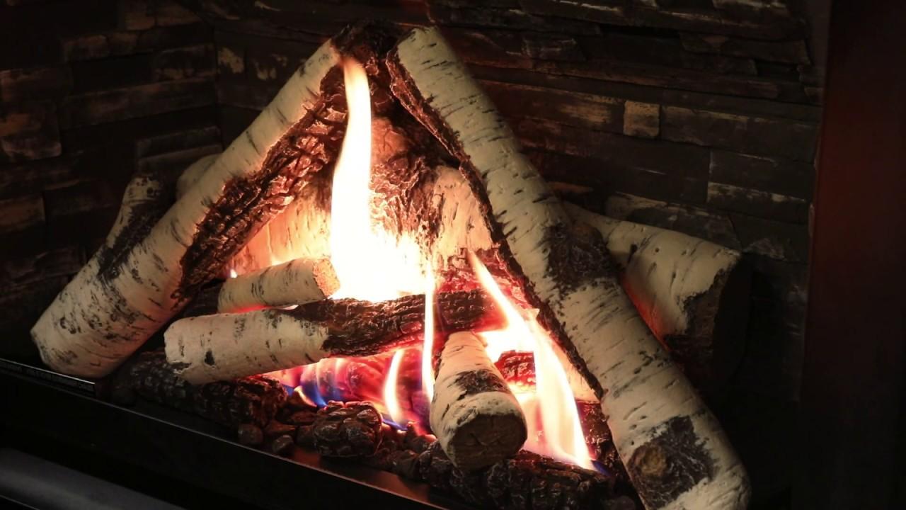 Valor Birch Log Fire Natural Gas H3 G4 Youtube