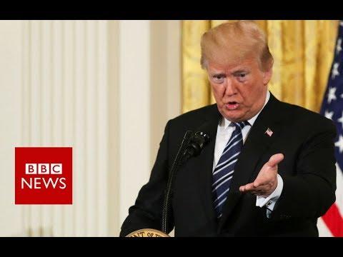 Santa Fe High School: President Trump condemned the shooting  - BBC News