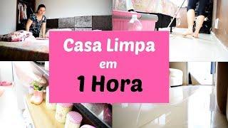 LIMPANDO E ORGANIZANDO A CASA EM  1 HORA #desafio | Cantinho da Flávia
