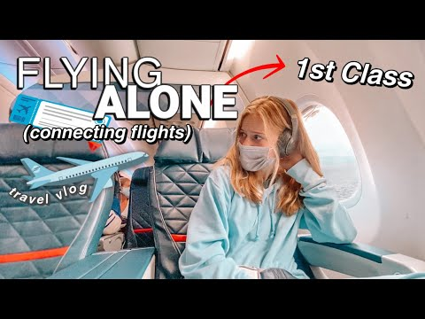 Travel ALONE With Me! *1ST CLASS* 😱✈️