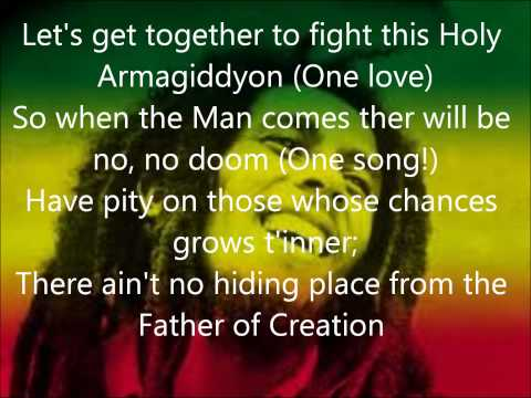 One love Bob Marley lyrics