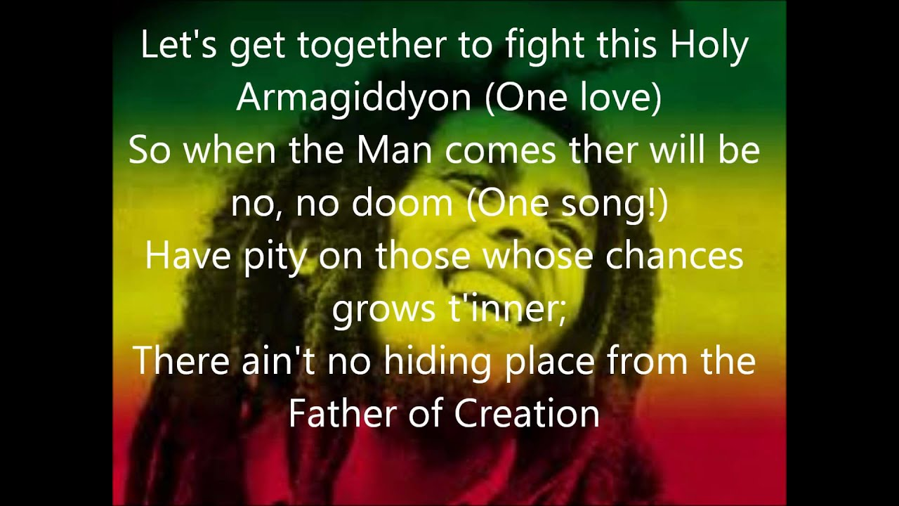 One love Bob Marley lyrics - YouTube