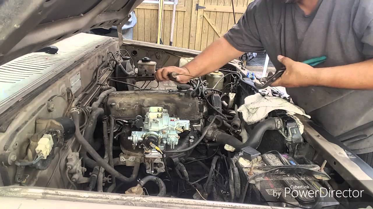 Installing A Weber Carburetor Youtube Toyota 22r Engine Diagram Water Get Free Image About Wiring