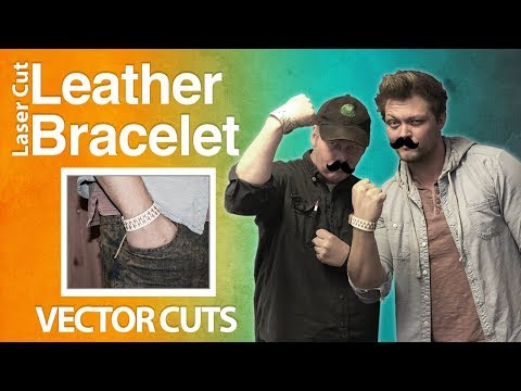 1 Hr Build - Laser Cut Leather Bracelet
