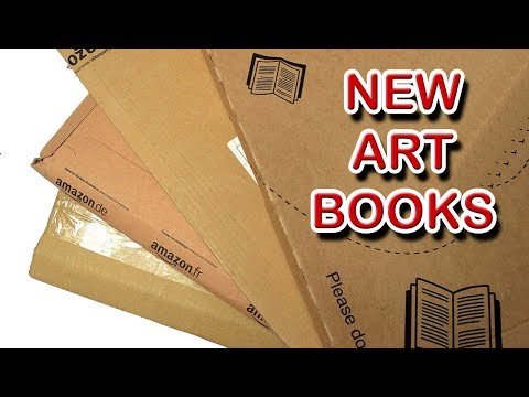 Adding to my Art Book Collection plus Unboxing New Art Supplies Art Books and Coloring Books