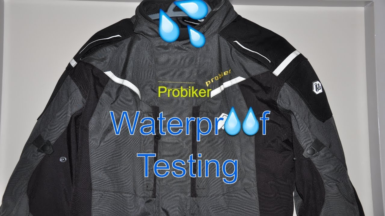 12719235250d Probiker Cordura Jacket - Waterproof test - YouTube