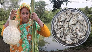 Village Food Puti Mach Fry Recipe Traditional fish hunting & cooking Bengali Primitive Technology