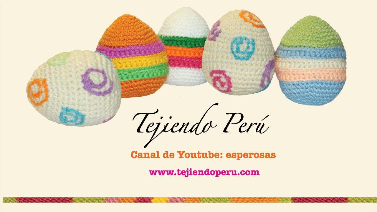 Huevos de Pascua tejidos en crochet o amigurumi (Easter eggs) - YouTube