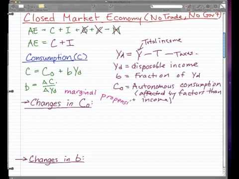 Macroeconomics - 12: Closed Market Economy (No trade, No gov't)