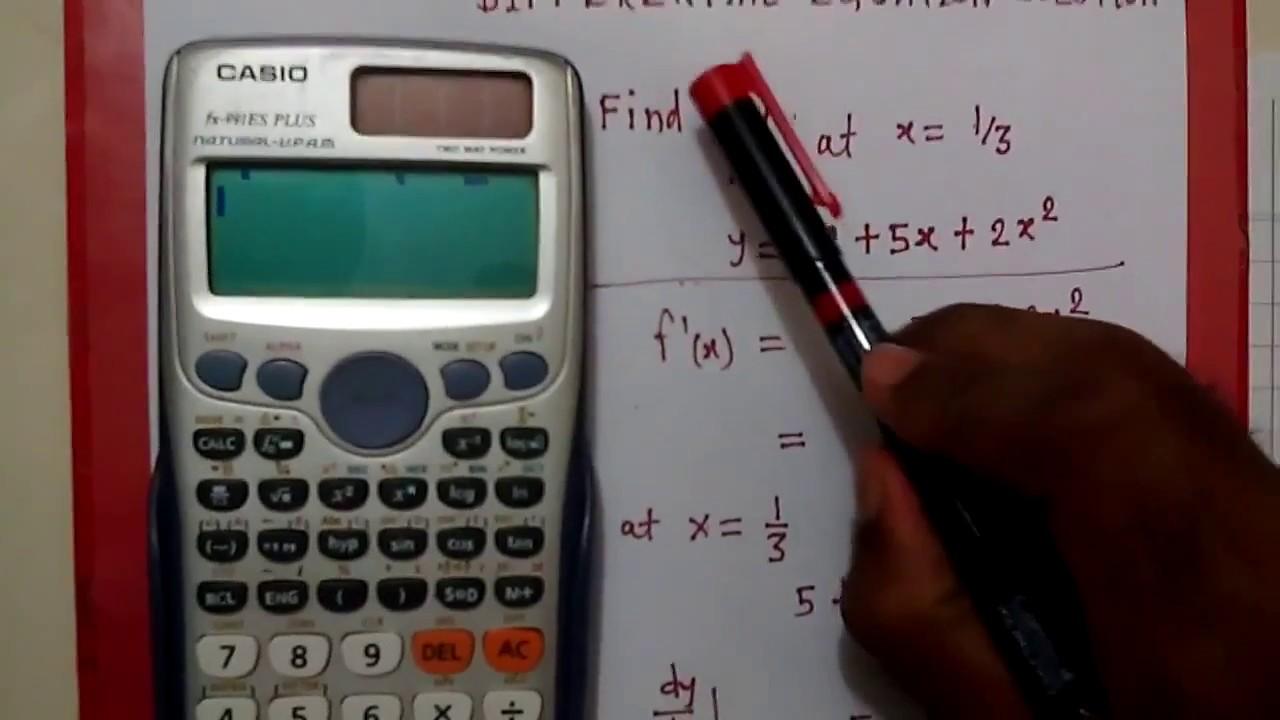Solve Differential Equation On Scientific Calculator Fx 991 Es Plus Casio Id Hindi