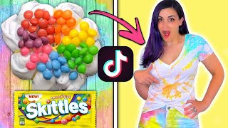 Testing VIRAL TikTok TIE DYE Food Hacks to See if They Actually Work